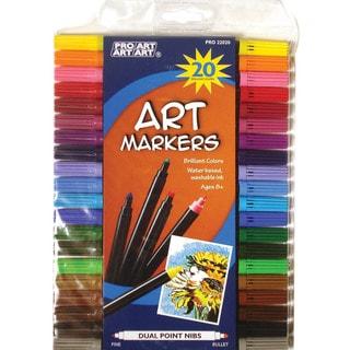 Pro Art Dual Point Art Marker Set 20/Pkg
