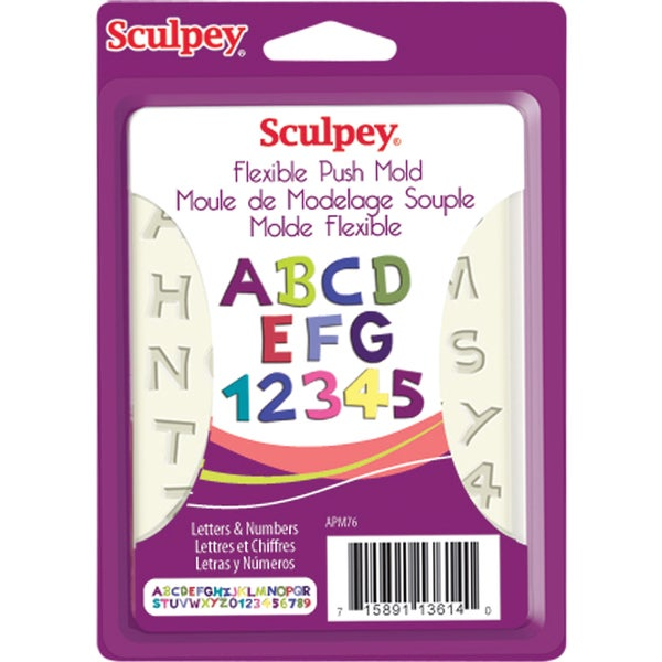 Sculpey Flexible Push Mold-Letters & Numbers