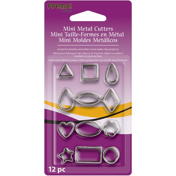 Premo Mini Metal Cutters 12/Pkg-Geometric