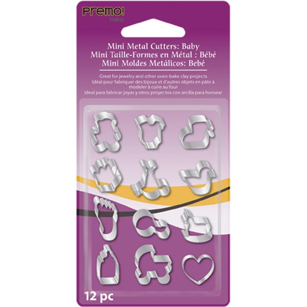 Premo Mini Metal Cutters 12/Pkg-Baby