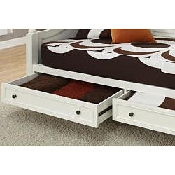 Bermuda Brushed White Daybed and TV Media Chest Set
