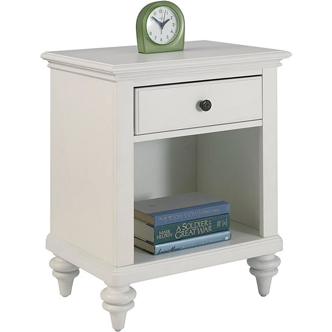 Bermuda Night Stand Brushed White Finish