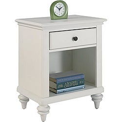 Home Styles Bermuda Night Stand Brushed White Finish