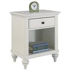 Bermuda Headboard and Night Stand Brushed White Finish