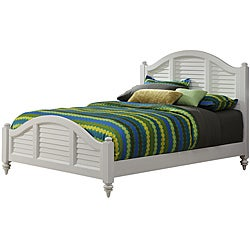 Home Styles Bermuda Queen Bed Brushed White Finish