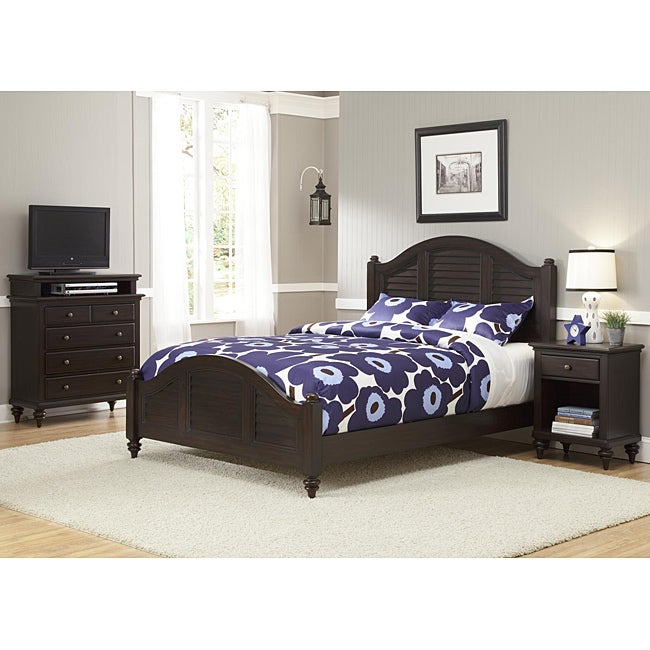 Bermuda Queen Bed, Night Stand, and TV Media Chest Espresso Finish at Sears.com