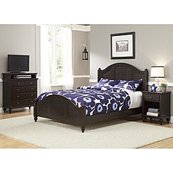 Bermuda Queen Bed, Night Stand, and TV Media Chest Espresso Finish