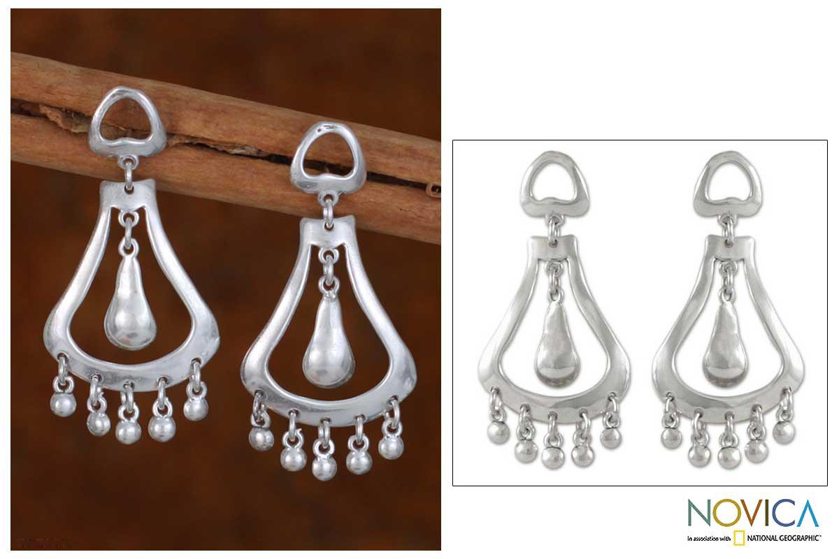 Sterling Silver 'Silver Jingles' Dangle Earrings (Mexico)