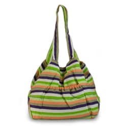 Handcrafted Cotton 'Peten Summer' Large Shoulder Bag (Guatemala)
