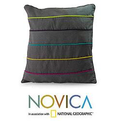 Handcrafted Cotton 'Urban Rainbow' Cushion Cover (Guatemala)