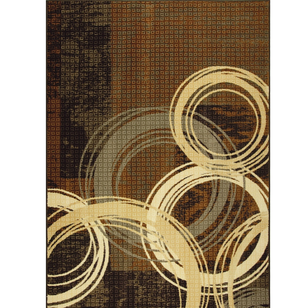 Somette Levitating Sphere Woven Brown Rug (5' x 7')