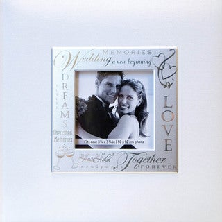 "Fabric Expressions Photo Album 200 Pocket 8.5""X8.5""-Wedding - White"