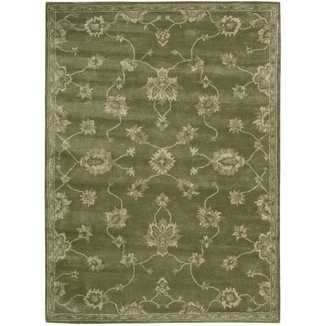Nourison Hand-tufted Superlative Green Rug (9'6 x 13'6)