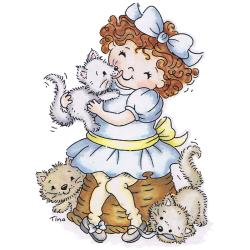 Stampavie Tina Wenke Clear Stamp-Alaina With Kittens
