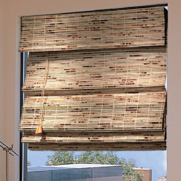 Roman Natural Bamboo Shade 71 x 64