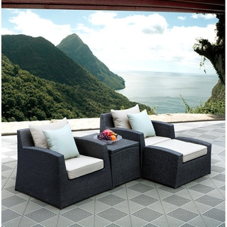 Sirio 4-Piece Wicker Urban Club Chair/Ottoman Set
