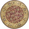 Handmade Classic Red/ Gold Wool Rug (6' Round)