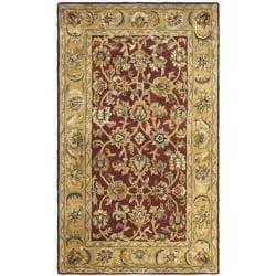 Safavieh Handmade Classic Rust/ Beige Wool Rug (4' x 6')