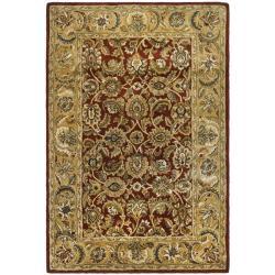 Safavieh Handmade Classic Rust/ Beige Wool Rug (6' x 9')
