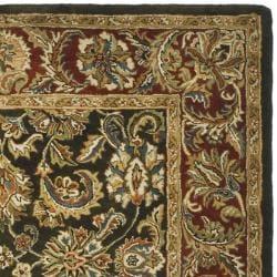 Handmade Classic Dark Olive/ Red Wool Rug (8'3 x 11')