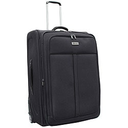 Kenneth Cole Reaction Front Row Charcoal Black 25-inch Expandable Wheeled Upright Luggage