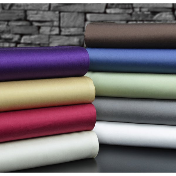 Brielle Solid Rayon from Bamboo Sateen Sheet Set