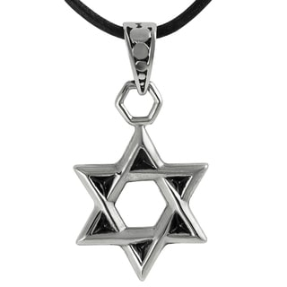 Journee Collection Stainless Steel Star of David Necklace