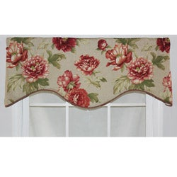 RLF Home Sage Cotton 17-inch Deane Cornice Window Valance