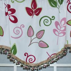 RLF Home Spring 17-inch Gracious Leaves Cornice Window Valance