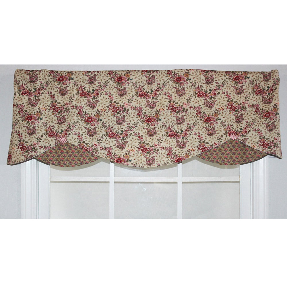 RLF Home Mauve Cotton 17-inch Petite Window Valance at Sears.com
