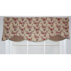 RLF Home Mauve Cotton 17-inch Petite Window Valance