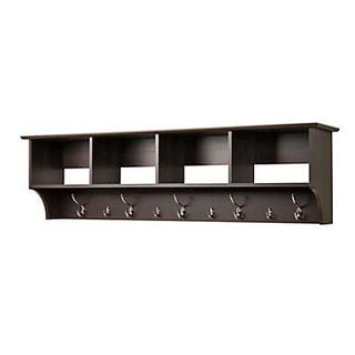 Everett Espresso Shoe Storage Cubbie Bench | Overstock.