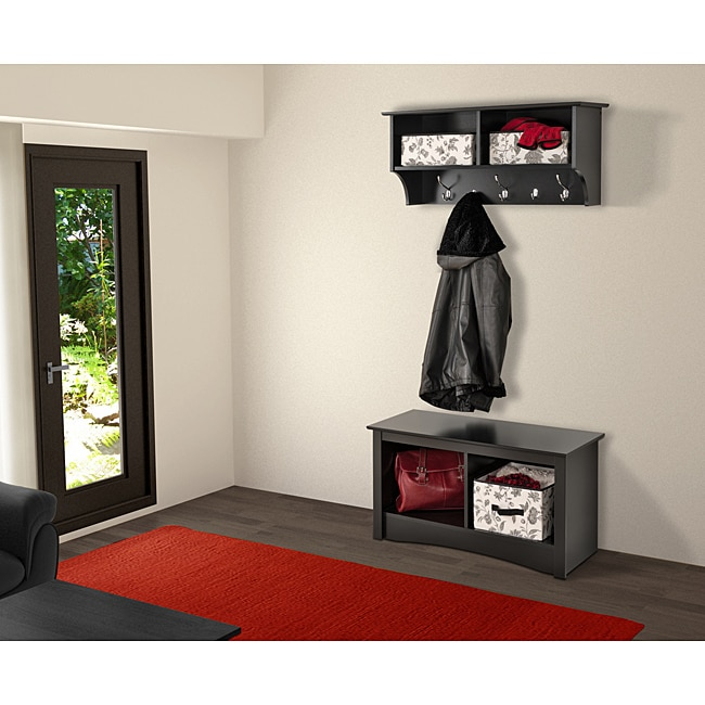 Broadway Black 36-inch Wide Hanging Entryway Shelf