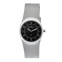 Skagen Women's Black Oval Stainless Steel Watch