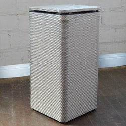 Silver Basketweave Apartment Hamper