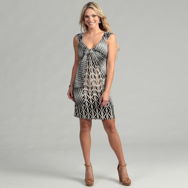 London Times Women's Matte Jersey Print Dress