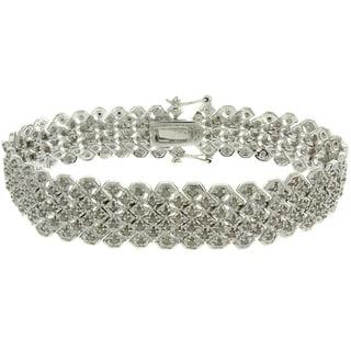 Finesque Silverplated 2ct TDW Diamond Pave Bracelet (I-J, I2-I3)