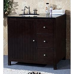 Granite Top 36 inch Single Sink Bathroom Vanity