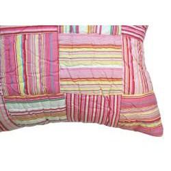 Cindy Pink Multi Color Striped Decorative Pillow