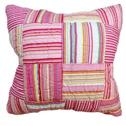 Cindy Pink Multi Color Striped Decorative Pillow