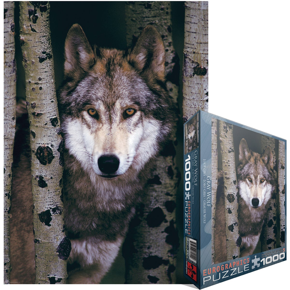 Jigsaw Puzzle 1000 Pieces -Gray Wolf
