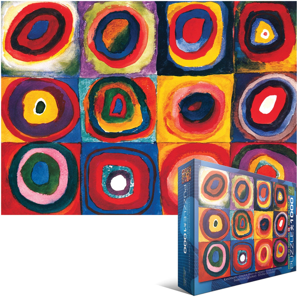 Jigsaw Puzzle 1000 Pieces -Kandinsky - Study Squares