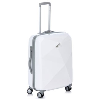Delsey Helium Karat 25-inch White Hardside Spinner Upright
