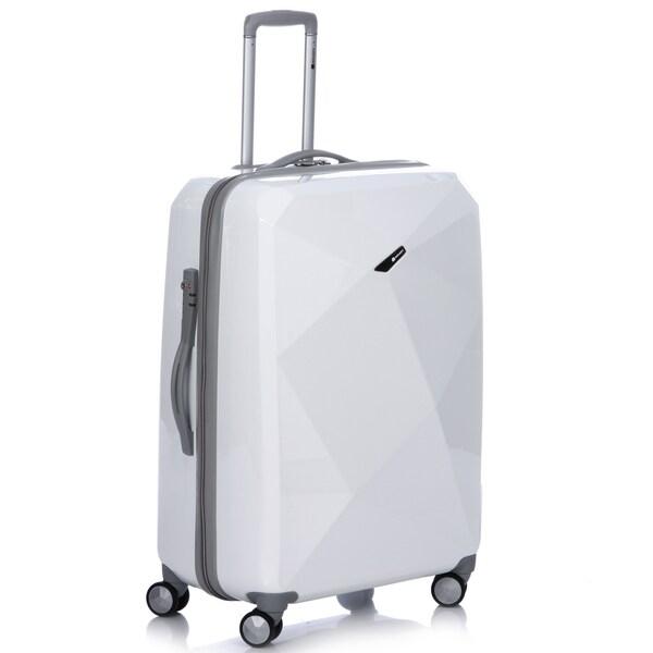 Delsey Helium Karat 29-inch White Hardside Spinner Upright