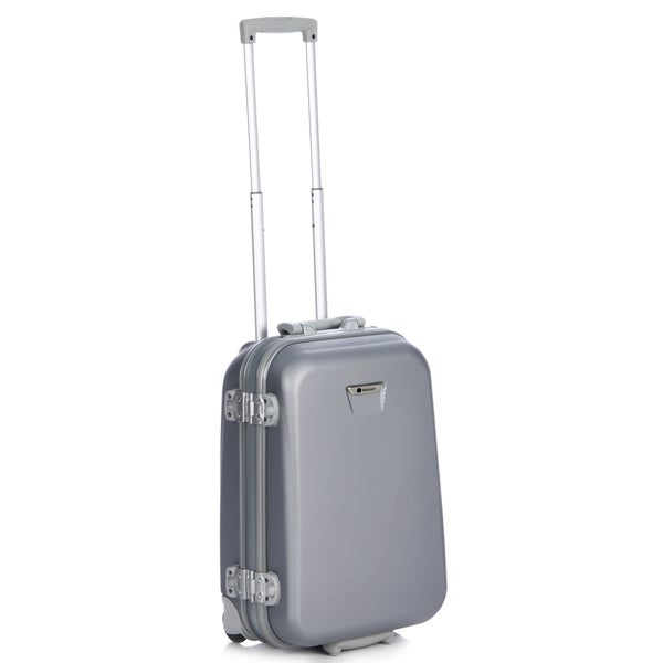 Delsey Meridian Silver 21-inch Carry-on Hardside Suiter Upright