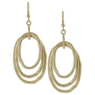 Journee Collection Goldtone Oval-shaped Dangle Earrings