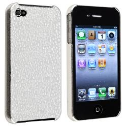 Silver Chrome Water Drop Snap-on Case for Apple iPhone 4/ 4S