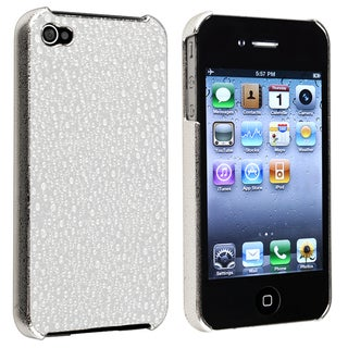 INSTEN Silver Chrome Water Drop Snap-on Phone Case Cover for Apple iPhone 4/ 4S