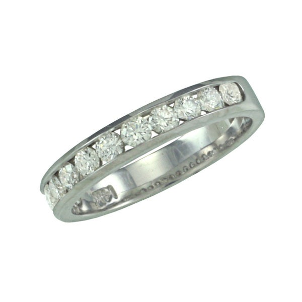 14k White Gold 1/2ct TDW Diamond Wedding Band (G, SI1)