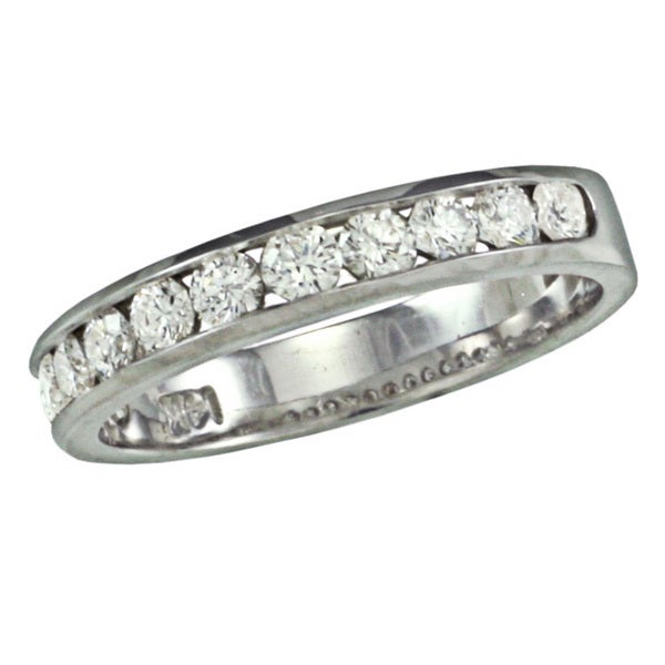 14k White Gold 1ct TDW Diamond Wedding Band (G, SI1)